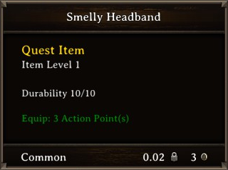 DOS Items Quest Smelly Headband Stats