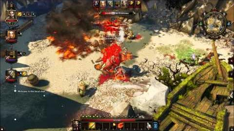 Divinity Original Sin - Grulbard the Fearsome - BOSS FIGHT - Black Cove Entrance - Part 1