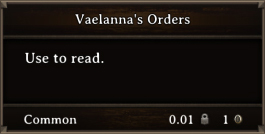 DOS Items Quest Vaelanna's Orders