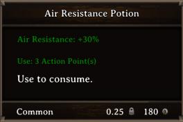 DOS Items Pots Air Resistance Potion