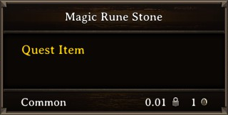 DOS Items Quest Magic Rune Stone Stats