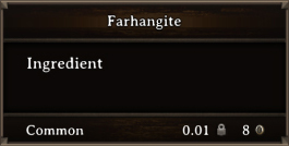 DOS Items CFT Farhangite