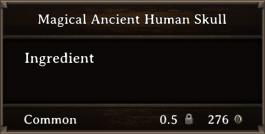 DOS Items CFT Magical Ancient Human Skull