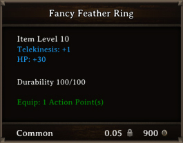 DOS Items CFTX 10.5 Fancy Feather Ring