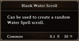 DOS Items Scrolls Blank Water Scroll