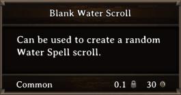 DOS Items Scrolls Blank Water Scroll