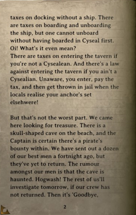 DOS Items Books A Pirate's Life Page2