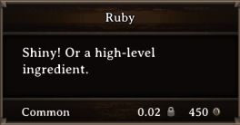 DOS Items CFT Ruby