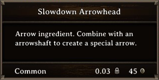 DOS Items CFT Slowdown Arrowhead Stats