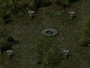 Catacombs statue open