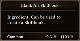 DOS Items Scrolls Blank Air Skillbook
