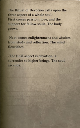 DOS Items Books The Ritual of Devotion Page