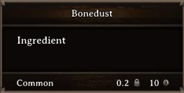 DOS Items CFT Bonedust