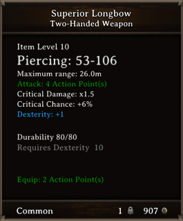 DOS Items CFTX 10.5 Superior Longbow