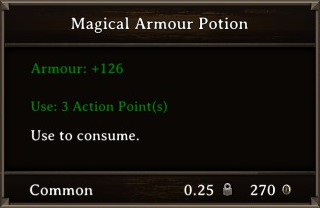 DOS Items Pots Magical Armour Potion 3 Stats