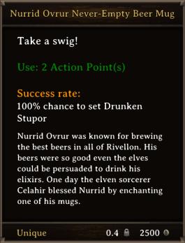 DOS Items Unique Nurrid Ovrur Never-Empty Beer Mug