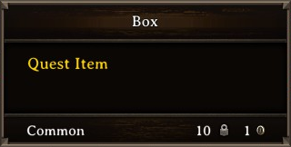 DOS Items Quest Box Stats