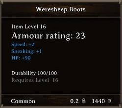 DOS Easter Egg Weresheep Boots