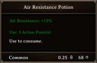 DOS Items Pots Air Resistance Potion 1 Stats