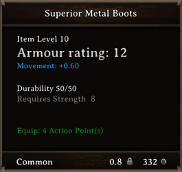 DOS Items CFTX 10.5 Superior Metal Boots