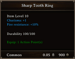 DOS Items CFTX 10.5 Sharp Tooth Ring