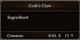 DOS Items CFT Crab's Claw