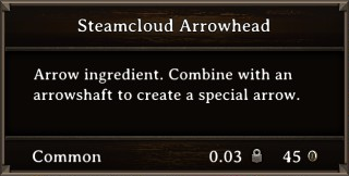 DOS Items CFT Steamcloud Arrowhead Stats
