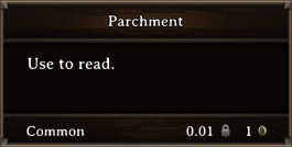 DOS Items Scrolls Parchment