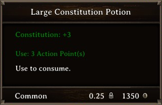 DOS Items Pots Large Constitution Potion Stats