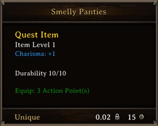 DOS Items Quest Smelly Panties Stats