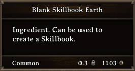 DOS Items Scrolls Blank Skillbook Earth