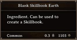 DOS Items Scrolls Blank Skillbook Earth