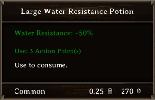 DOS Items Pots Water Resistance Potion 3 Stats