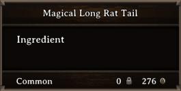 DOS Items CFT Magical Long Rat Tail