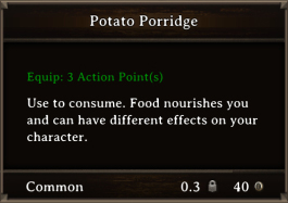 DOS Items FnD Potato Porridge