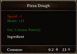 DOS Items Food Pizza Dough Stats