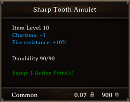 DOS Items CFTX 10.5 Sharp Tooth Amulet
