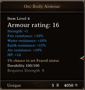 DOS Items Unique Orc Body Armour