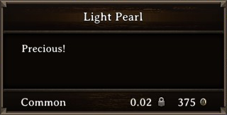DOS Items Precious Light Pearl Stats