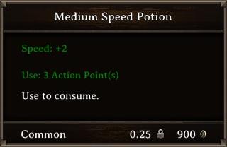 DOS Items Pots Medium Speed Potion Stats