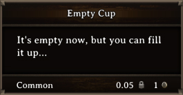 DOS Items CFT Empty Cup