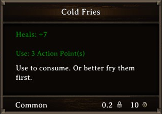 DOS Items Food Cold Fries Stats