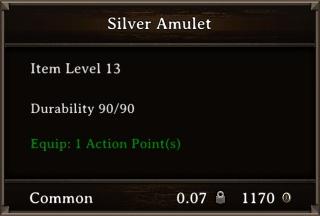DOS Items Precious Silver Amulet Stats