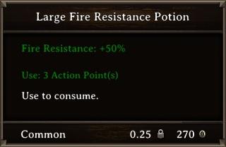 DOS Items Pots Fire Resistance Potion 2 Stats