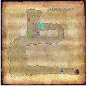 Lost Cavern Interior Map
