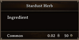 DOS Items CFT Stardust Herb