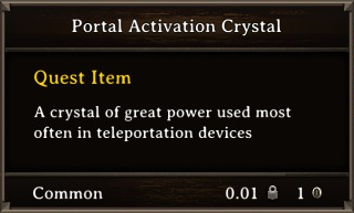 DOS Items Quest Portal Activation Crystal Stats