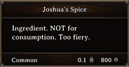 DOS Items CFT Joshua's Spice
