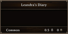 DOS Items Quest Leandra's Diary