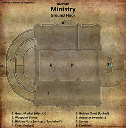 Ministry map ground floor (D2 FoV location)